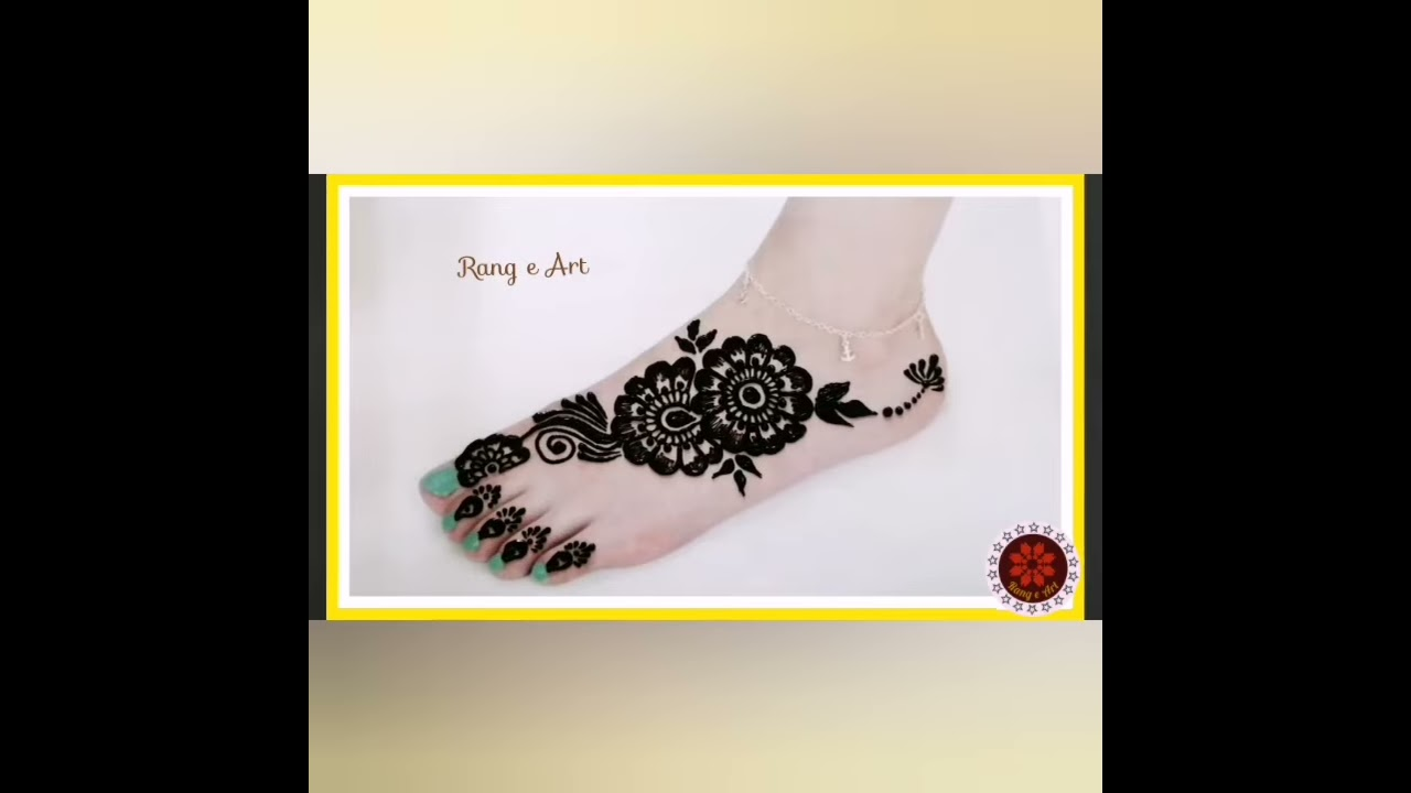 easy and simple foot mehndi design by rang e art