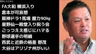 金村義明「大和獲って倉本も球団に腹立つやろな~」 プロ野球 阪神 横浜 2017年12月4日