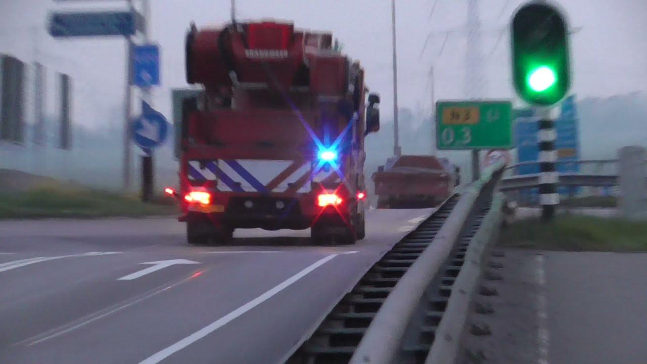 Prio 1 Hulpdiensten met spoed naar een grote brand in Brandwijk!