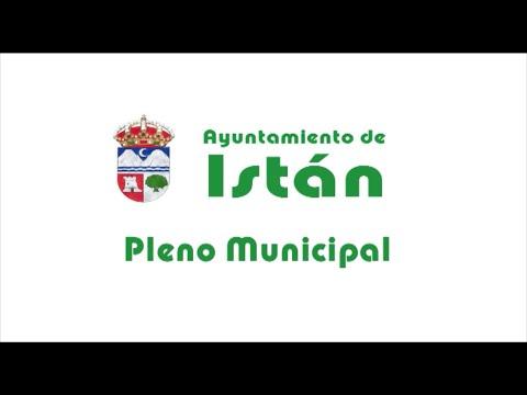 Pleno Ayuntamiento Istán - Agosto 2020