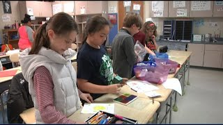 Students make get well cards for hospital patients