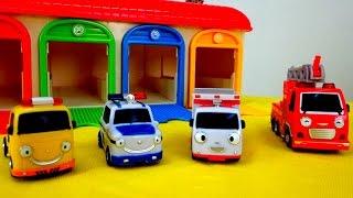 Машинки-Помощники - Полицейская машина, Скорая помощь, Пожарная