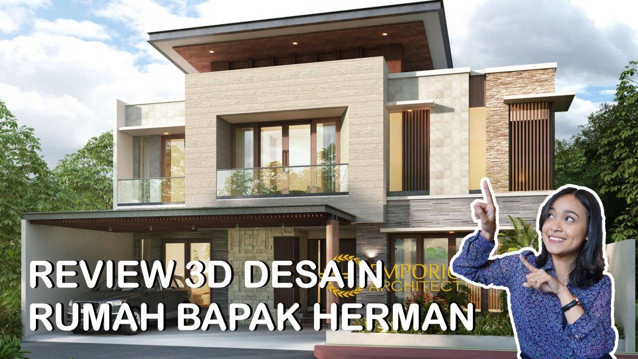 Video 3D Desain Rumah Modern 2 Lantai Bapak Herman - Jakarta