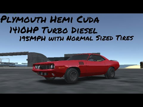 Offroad Outlaws Plymouth Hemi Cuda Drag Car 195MPH