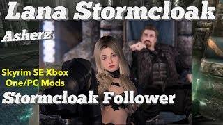 Asherz - Lana Stormcloak Follower Skyrim SE Xbox One/PC Mods