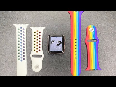 NEW PRIDE APPLE WATCH BANDS Unboxing & Review