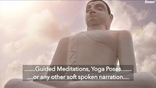 I will record a guided meditation voice over
