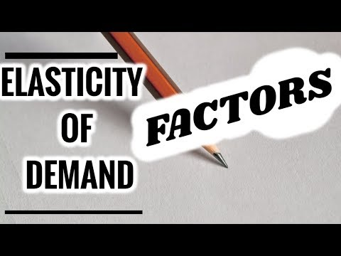 Price Elasticity of Demand- Factors Affecting The Same