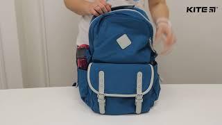 """Рюкзак молодежный Urban K18-898L от компании Интернет-магазин """"Радуга"""" - школьные рюкзаки, канцтовары, творчество - видео"""