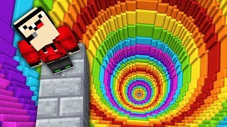 IMPOSSIBLE MINECRAFT RAINBOW DROPPER!