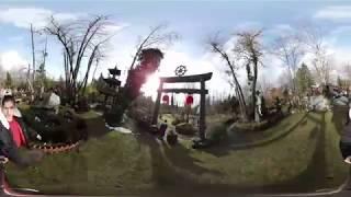 🍁Cuộc Sống Canada: Mùng 1 đi chùa Thiền Tôn, Surrey, BC | 360 Video | Quang Lê TV #15
