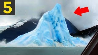 5 Icebergs Flipping Over - incredible