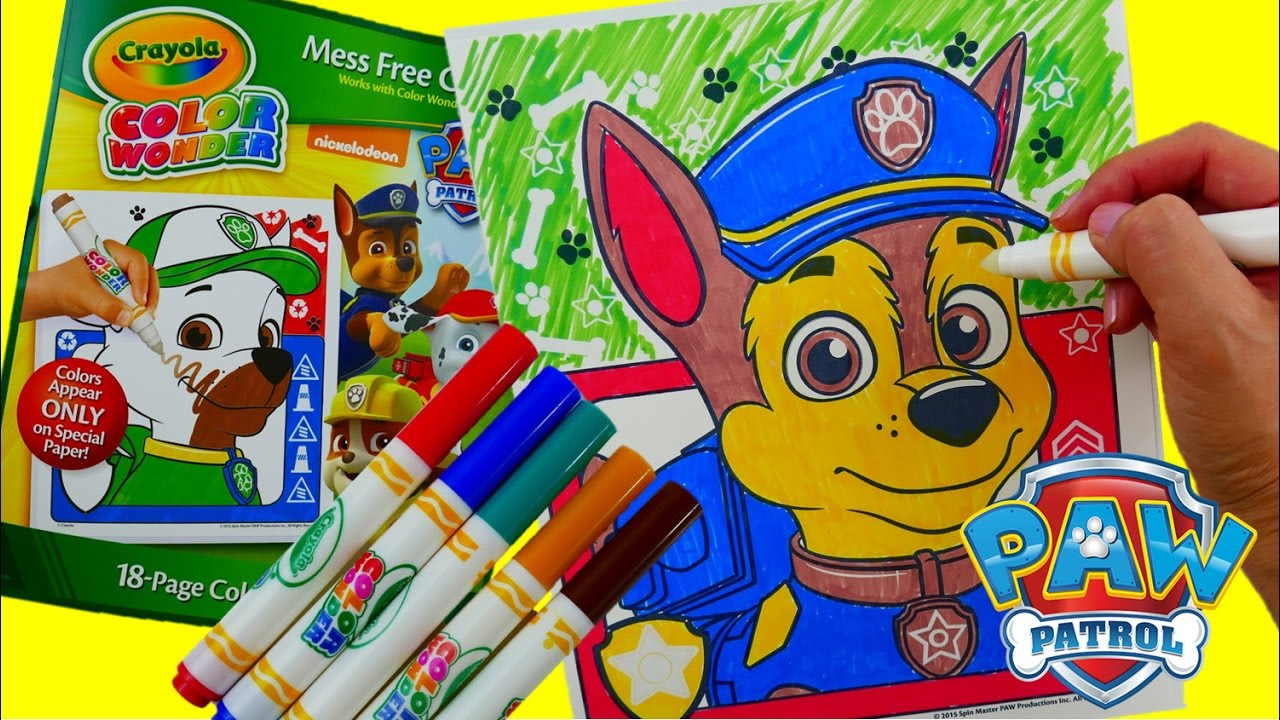Coloring Chase - New Paw Patrol Coloring Book Crayola Color Wonder Episode Evie's Toy House
