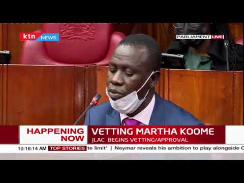 JLAC vets Martha Koome for the Chief Justice position