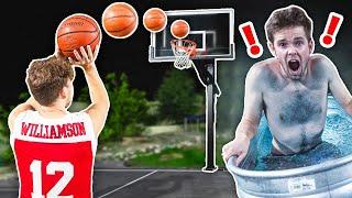 Make The Shot, Leave The FREEZING Ice Bath Challenge!