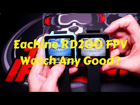 Eachine RD200 5.8ghz 48CH FPV Watch With DVR And OSD Full Review