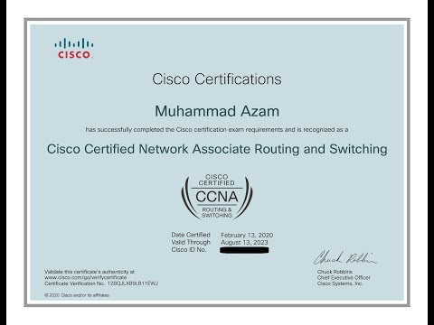 How to get Cisco CCNA Certificate in PDF Format - YouTube