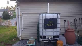 Rain Collection W/ 275 Gallon Caged IBC Tote