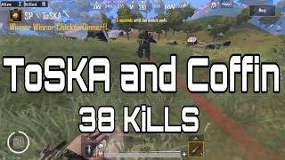 +38 KILLS! Toska Ft. Coffin   Sanhok 2 vs 4   Pubg Mobile