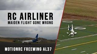 MotionRC Freewing AL37 - Maiden Flight GONE WRONG - FPV Drone Footage