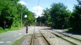 preview picture of video 'Mitfahrt Karlsruhe Daxlanden Rappenwört Straßenbahn Tram'