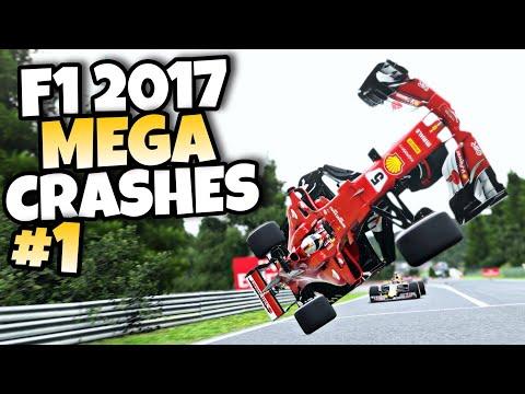 F1 2017 MEGA CRASHES #1