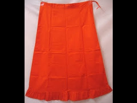 How to stitch saree petticoat?