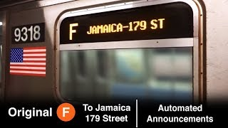 ᴴᴰ Original 2009 R160 F Express Train Automated Announcements - To Jamaica / 179 Street