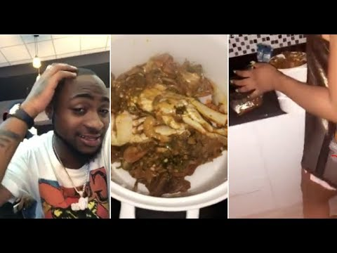 Davido: Watch as the singer's new girlfriend cooks for him