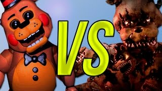 Five Nights At Freddy's 1,2 VS Five Nights At Freddy 3 VS 5 Nights At Freddy 4 | СУПЕР РЭП БИТВА