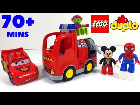 LEGO DUPLO VIDEO  COMPILATION WITH SPIDERMAN MICKEY MOUSE PRINCESS SOFIA JAKE THE PIRATE & MCQUEEN