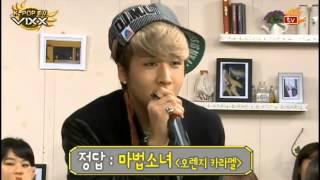 "[121214 Sonbadaktv K-POP TV VIXX EP04] RAVI Singing Orange Caramel's ""Magic Girl (마법소녀)"""