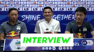 Họp báo trước trận   Hoàng Anh Gia Lai - Hà Nội   Vòng 10 V.League 2021   HAGL Media