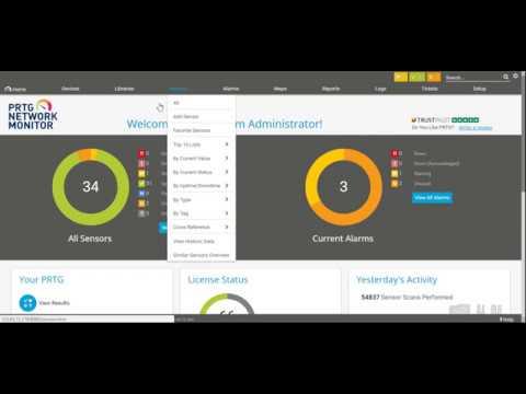PRTG Network Monitoring : Configuration Maps Monitoring