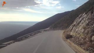 preview picture of video 'Riding Down Llogara Pass'