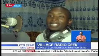 INCREDIBLE! Nakuru man uses damaged electronic gadgets to set up village radio station