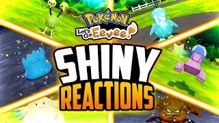 Ditto  - (Pokémon) - Pokemon Let's Go - 20+ SHINY REACTION MONTAGE! (Shiny Ditto, Porygon, and more!)