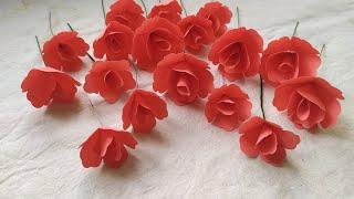 Handmade Paper Flower | DIY Home Decoration Paper Flowers |কাগজের ফুল/paper Flower Easy