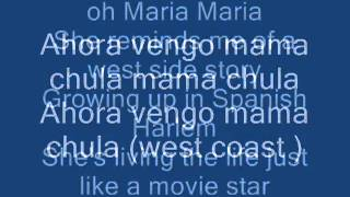 Maria Maria-Santana lyrics - YouTube