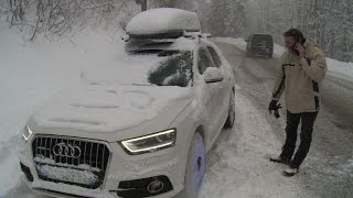 Snow Strands Thousands Of Motorists In French Alps