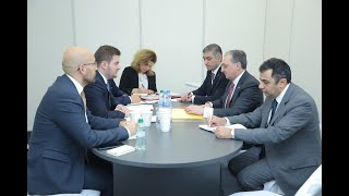 Meeting of Foreign Minister Zohrab Mnatsakanyan with acting Foreign Minister of Albania Gent Cakaj