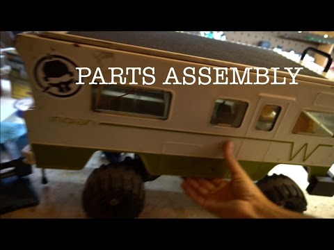 Electric Winnebago skateboard Parts and assembly