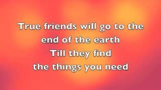 True friend-Miley Cyrus (Lyrics)