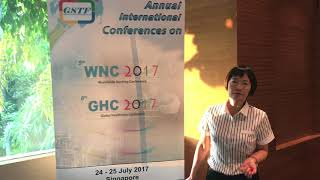 Dr. Susan Chow at GHC Conference 2017 by GSTF Singapore