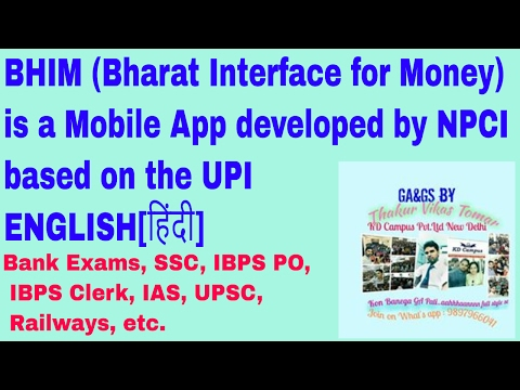 BHIM (Bharat Interface for Money) is a Mobile App developed by NPCI based on the UPI ENGLISH[हिंदी]