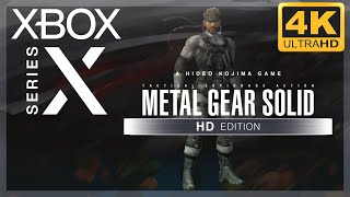 [4K] Metal Gear Solid HD Collection (MGS 2) / Xbox Series X Gameplay