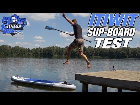 """ITIWIT SUP-Board 10'7"""" (blau) im Test: Was taugt das günstige Decathlon-SUP für 370 Euro?"""