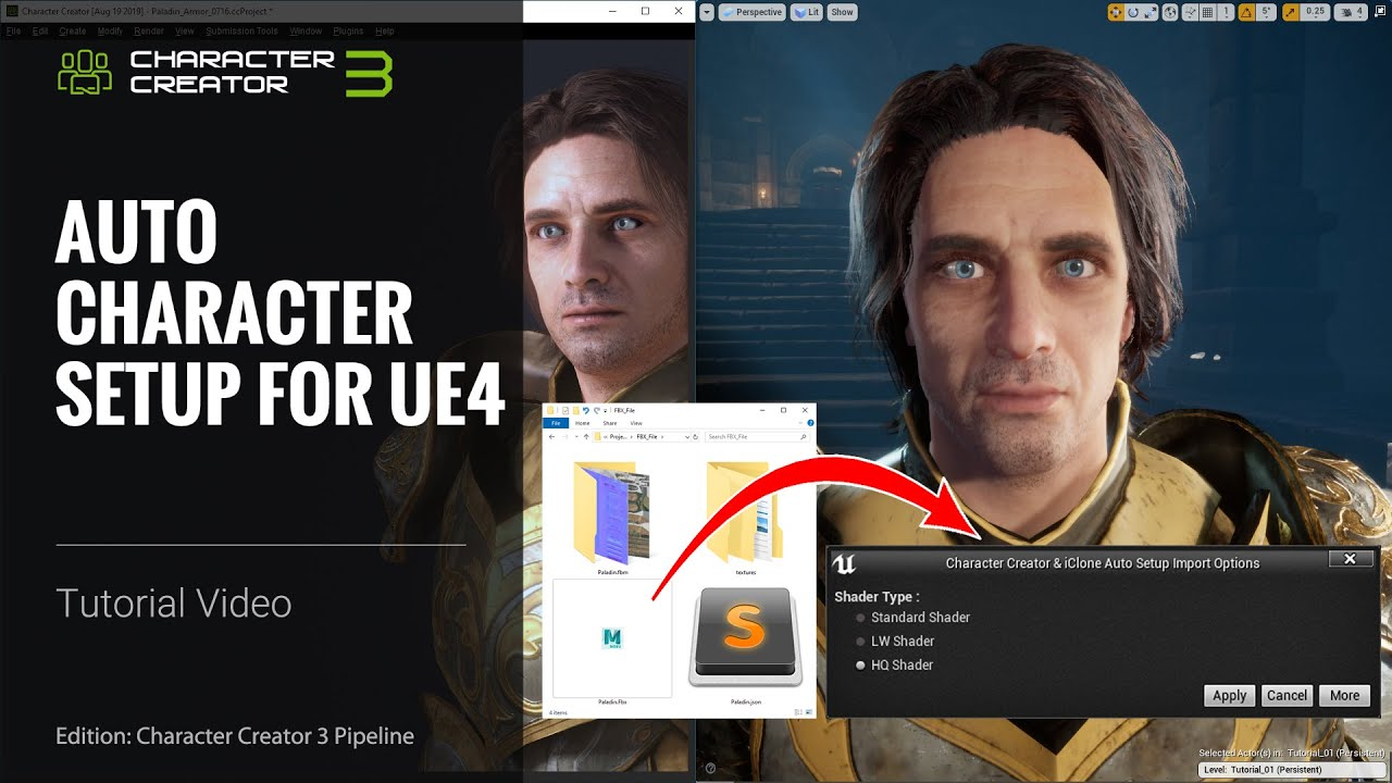 Character Creator 3 Tutorial - Auto Character Setup for Unreal Engine 4