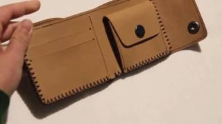 Кошелек - портмоне из качественной итальянской кожи ручной работы от компании Профессиональные краски для кожи, кожзама, замши, нубука, резины и ПВХ - видео 1