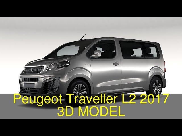 Peugeot Traveller L2 2017 3d Model Flatpyramid